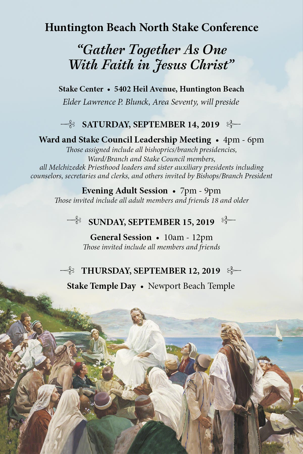 Fall 2019 Stake Conference poster