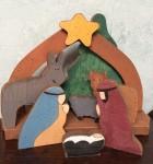 Wooden nativity
