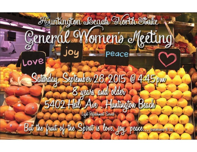 General Women's Meeting - September 2015