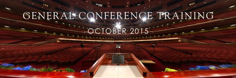 General Conference Training October 2015